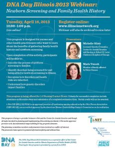 DNA Day IL Webinar flyer
